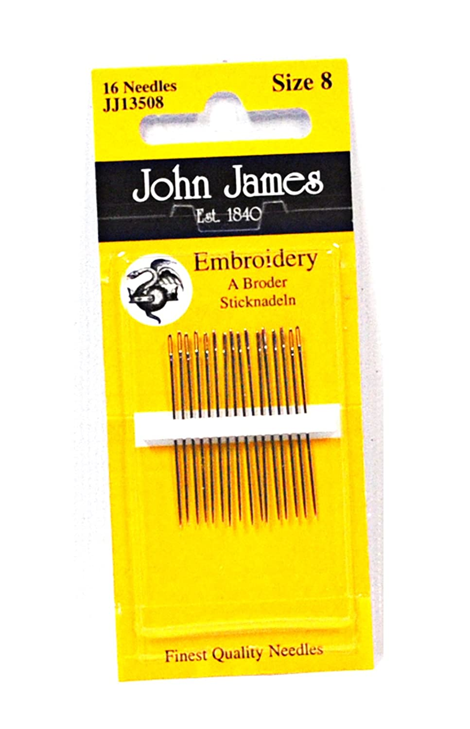 John James Embroidery Needles Size 8 333302487