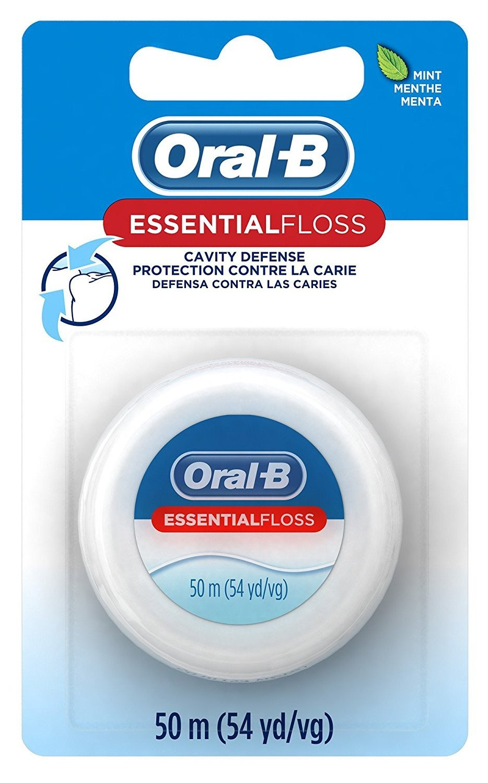 Oral-B 54 Yards Floss Essential Mint Wax (6 Pack)
