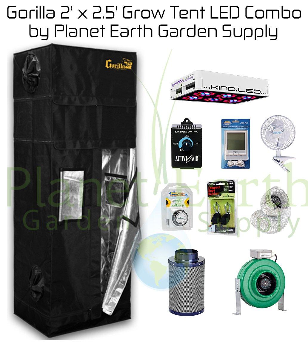 2' x 2.5' Gorilla Grow Tent Kit 300W KIND LED L300 Package #1