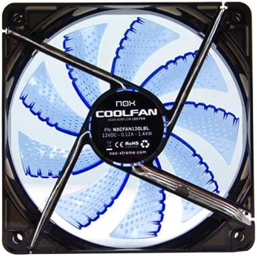 Nox Coolfan 120 - NXCFAN120LBL - Ventilador para Caja PC, 12 cm ...