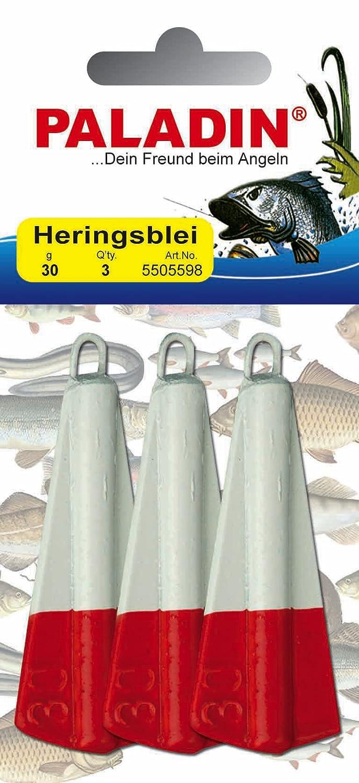 2 Stück Zebco Heringsblei 40g rot//weiß />TOP
