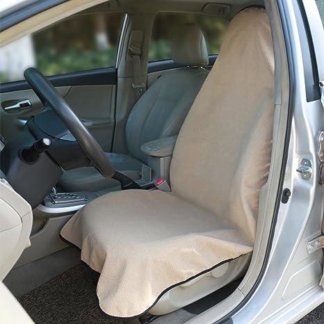 Amazon.com: Beige Sweat Towel Auto Car Waterproof Seat Cover for ...