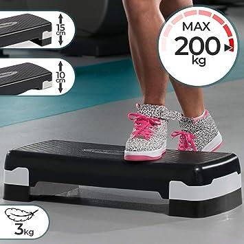 Step Fitness - 2 Niveles, Altura Regulable de 10 hasta 15 cm ...