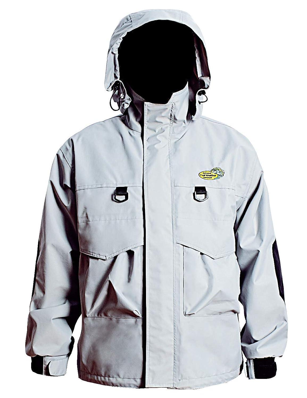 Navis Marine ウェーディングジャケット メンズ 防水 釣り用レインギア 3層 ハードシェル 通気性 防風 フード付き Small シルバー B07FNPXDML