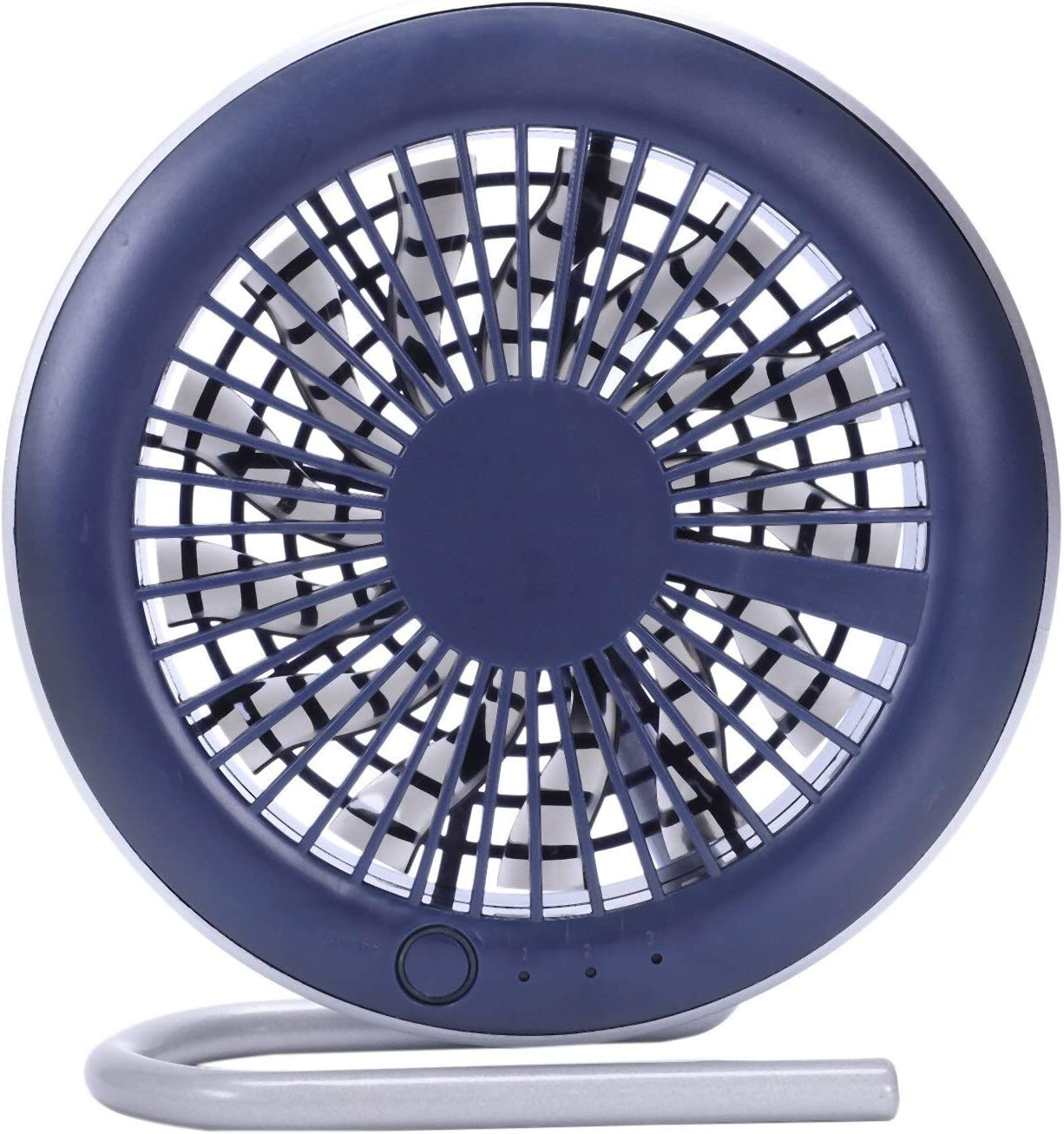 Color : Blue Air Cooling Fan Mini Electric Fan Portable Personal Fan Mute Bed USB Rechargeable Fan Holder Bracket for Car