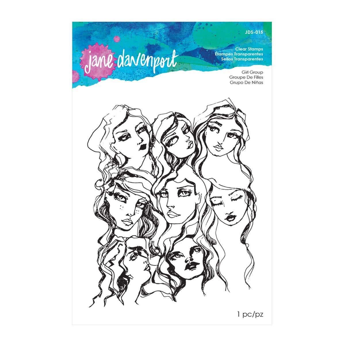 Spellbinders JDS-015 Jane Davenport Girl Group Clear Stamps