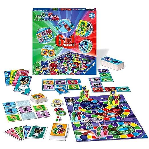 Ravensburger Games Box | 6 en 1 | PJ Masks Colección de Juegos Infantiles: Amazon.es: Juguetes y juegos