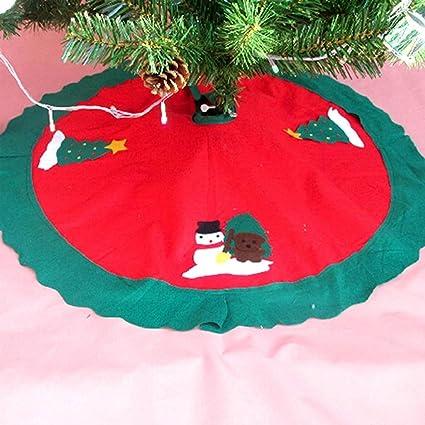Mini Christmas Tree Skirt Pattern.Christmas Tree Skirt Y M Tm 90cm Mini Christmas Tree Skirt Pattern Decoration With Santa Christmas And Snow Design