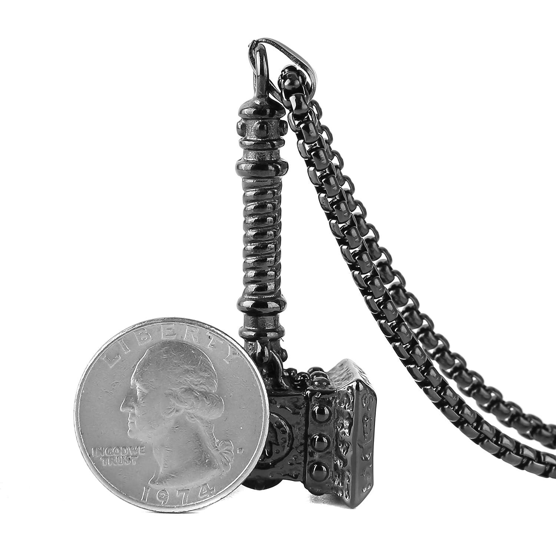 Amazon.com: HZMAN - Collar con colgante de martillo de Thor ...