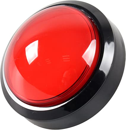 Big Dome Push Button Red
