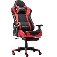 NOKAXUS Gaming Stoel Grote Size High-back Ergonomische Racing Seat met Massager Lumbale Ondersteuning en intrekbare…