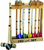 Amish-Crafted Deluxe Maple-Wood Croquet Game Set, 6 Player