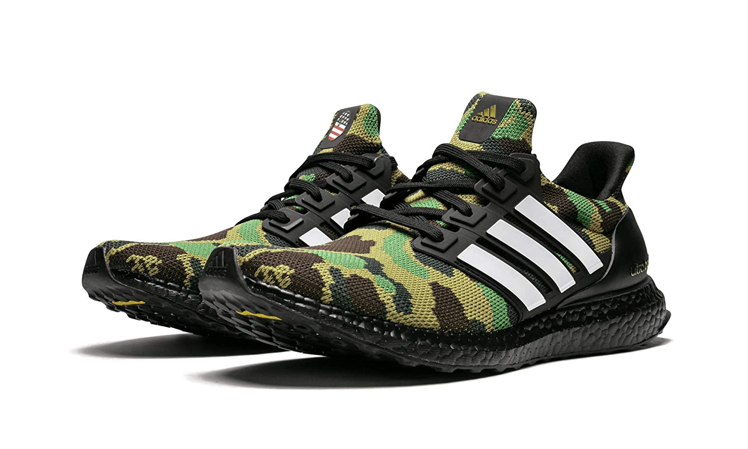 newest 215b6 d1d92 Amazon.com | adidas Ultra Boost Bape (Black/Cloud White/Core ...