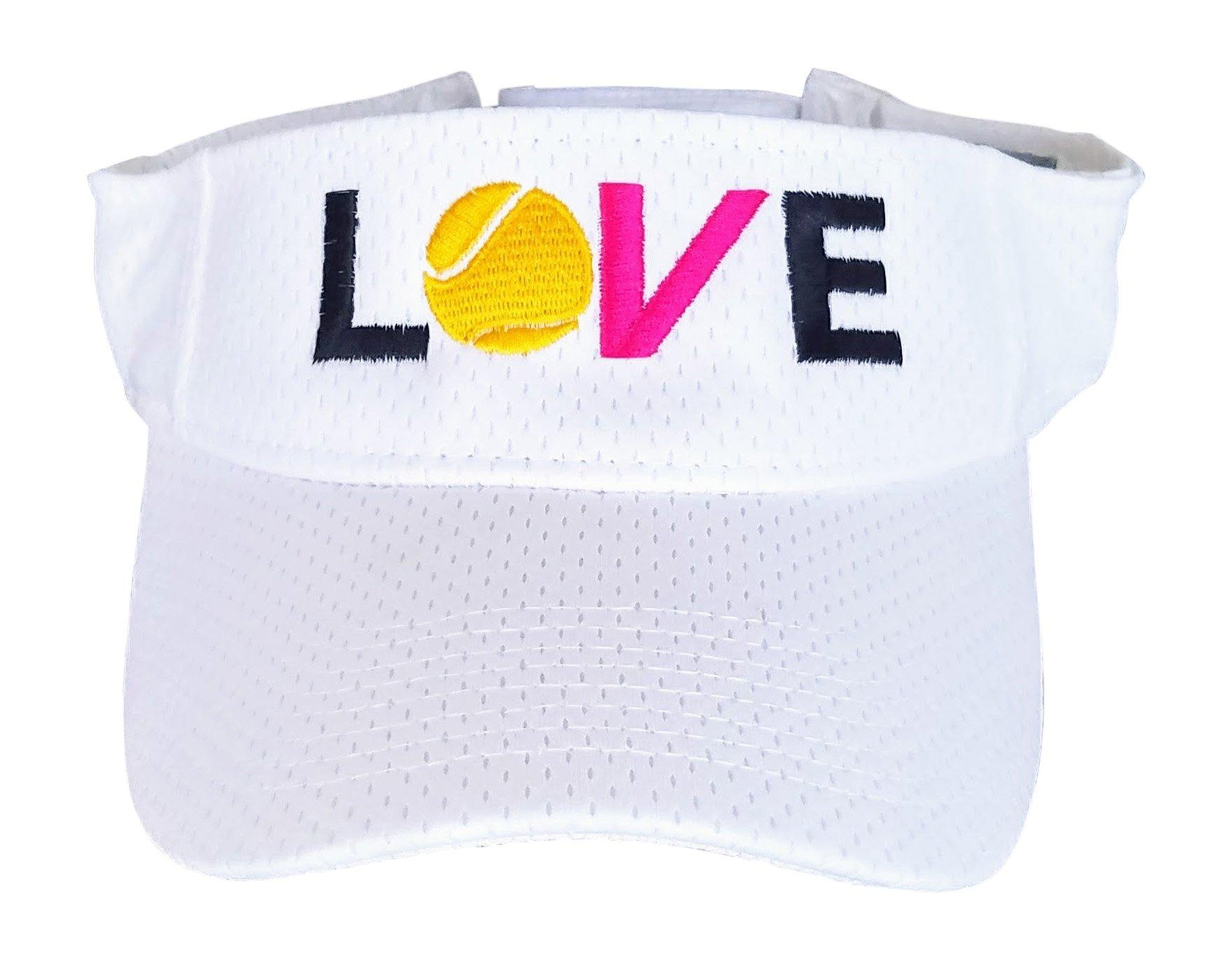 Love Tennis Visor. Perfect Tennis Visors for Women White by Tennis Happies