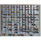 1:64 Scale Toy Cars Wheels Display Case Wall Cabinet Rack 144 Compartment, Clear, UV Protect Hot-AHW64-144