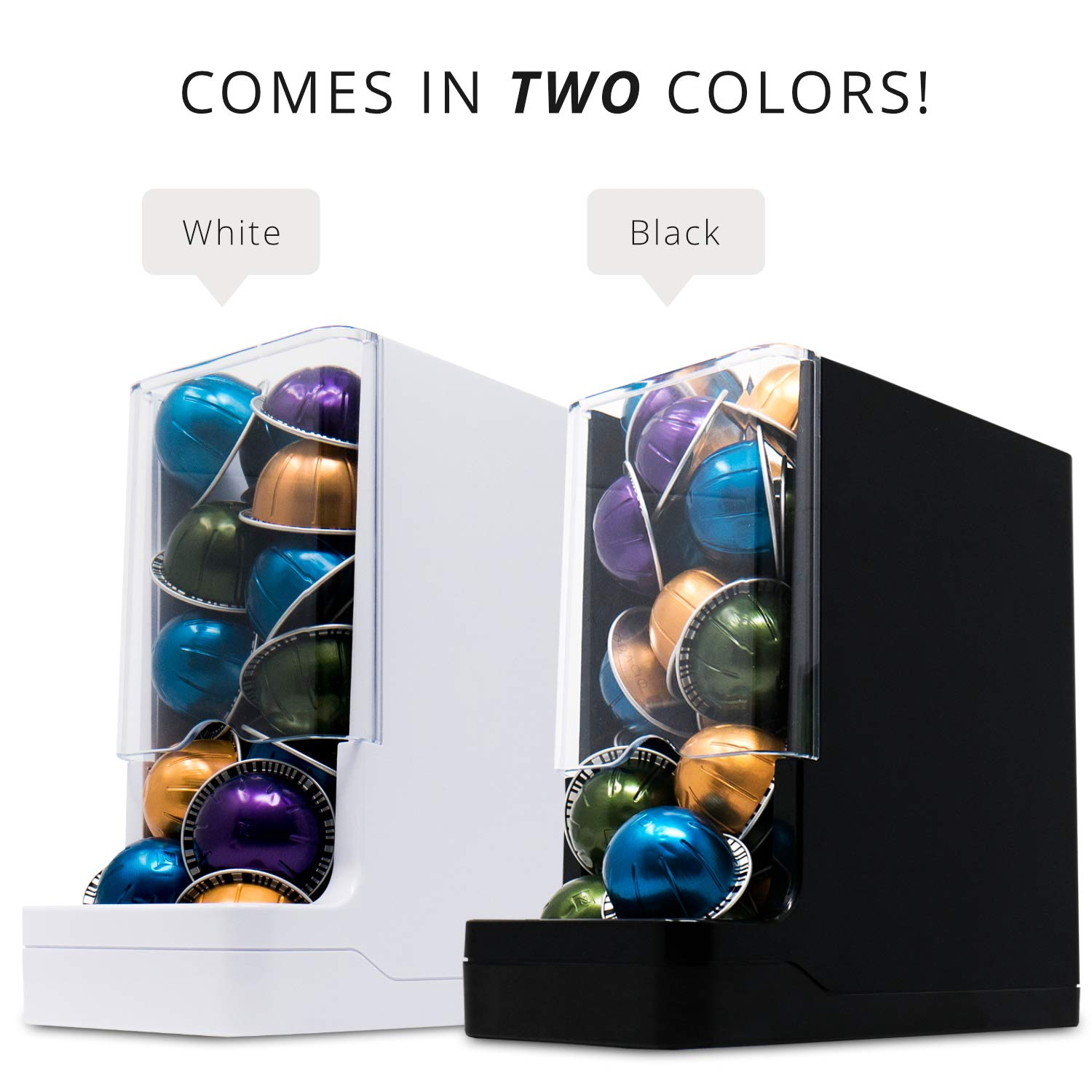 Never Run Out of Coffee - WePlenish Java - Smart Coffee Pod Holder with Amazon Dash Replenishment Built In | Nespresso Capsule and Keurig K-Cup Holder Black by WePlenish (Image #9)