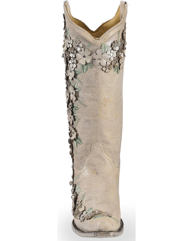 コラル女性の白い花のオーバーレ...