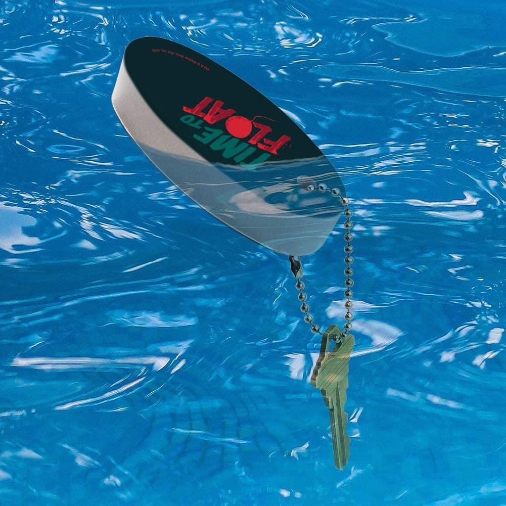 Graphics and More IT:Chapter 2 Time to Float Floating Keychain Oval Foam Fishing Boat Buoy Key Float