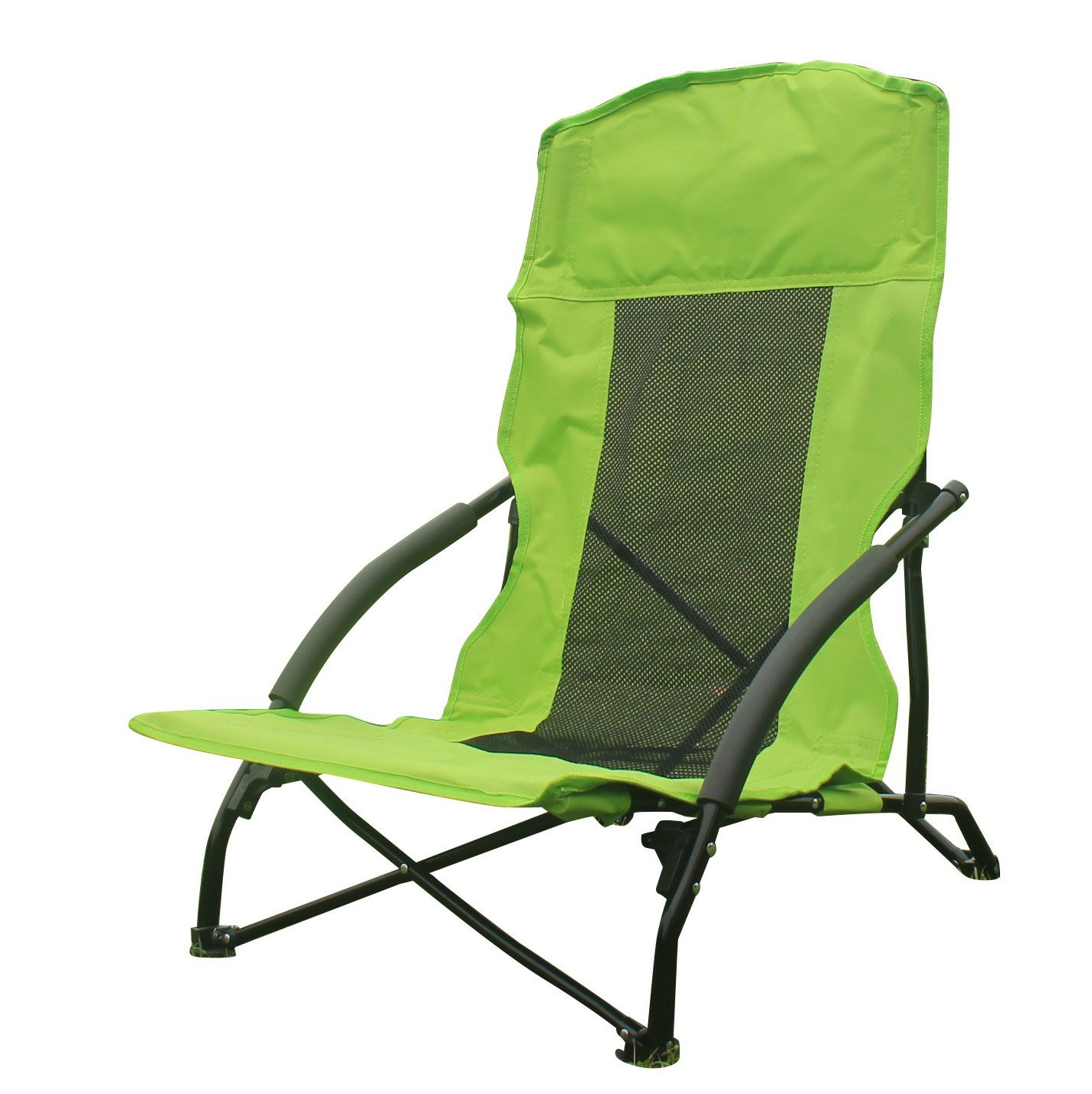 Amazon.com : Funs Portable Heavy Duty Folding Chair, Compact In A Bag. Best  For Outdoor Camping Hiking Beach Activities (Green) : Sports U0026 Outdoors