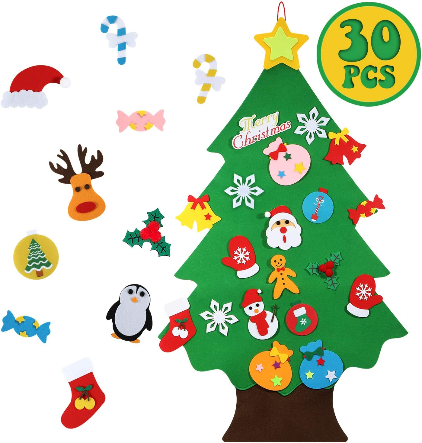 Christmas Craft Felt Pieces 100 Pack Stocking  Filler Xmas Gift