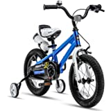 RoyalBaby Freestyle Kid's Bike for Boys and Girls, 12 14 16 inch with Training Wheels, 16 18 20 inch with Kickstand, in…