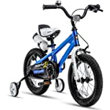 RoyalBaby Kids Bike Boys Girls Freestyle Bicycle 12 14 16 Inch with Training Wheels, 16 18 20 with Kickstand Child's…