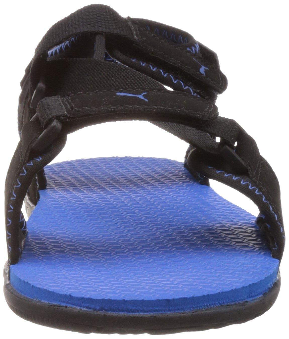 5df40198bae Puma Men s Woody DP Black-Brilliant Blue Athletic   Outdoor Sandals - 11 UK  India(46EU)  Buy Online at Low Prices in India - Amazon.in