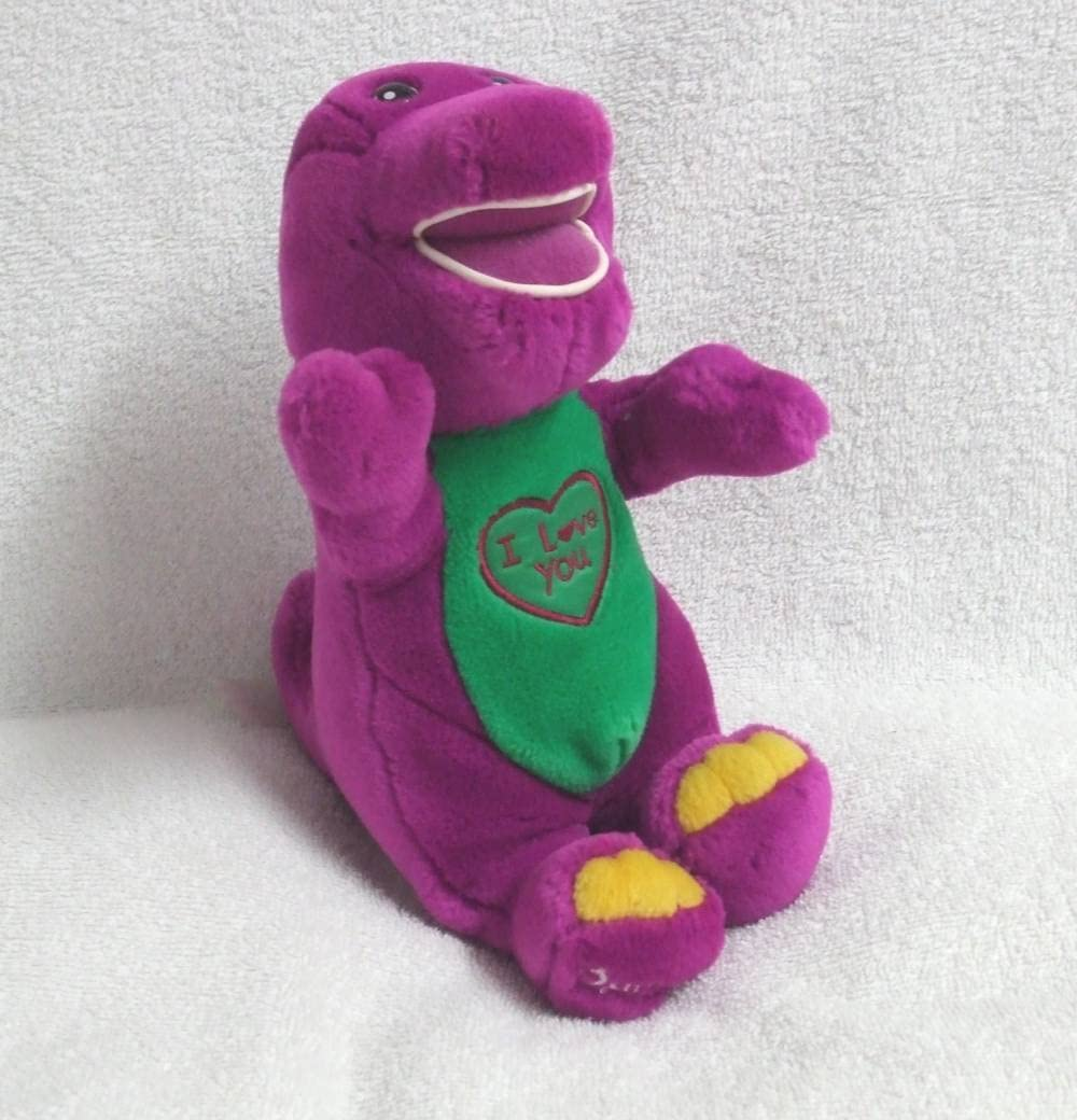 12/'/'Barney The Purple Dinosaur Sing I LOVE YOU Song  Soft Plush Doll Toy Gift