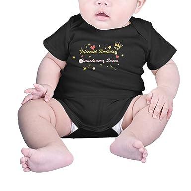 772cebe32 T-COPER Baby Short-Sleeve Bodysuits Fifteenth Birthday Quinceanera Queen  Infant Comfort Cotton Onesies: Amazon.co.uk: Clothing