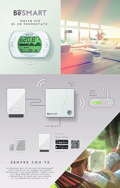 BeSmart Termostato WiFi para Smartphone retroiluminada: Amazon.es ...