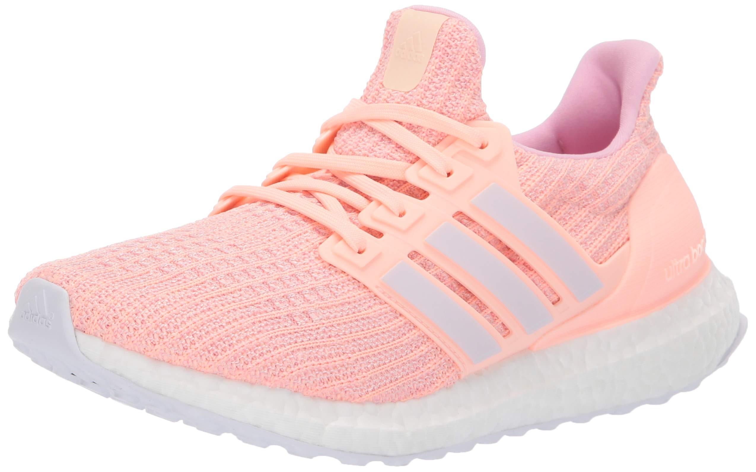 adidas Women's Ultraboost, clear orange/orchid tint/true pink, 5 M US