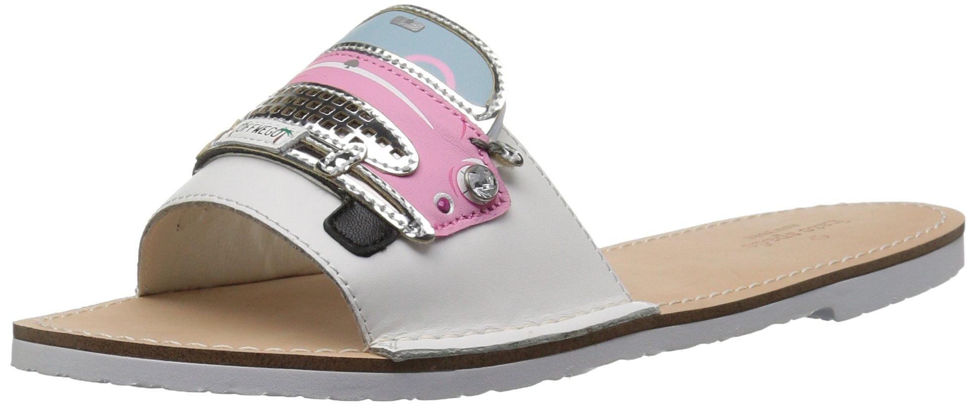 kate spade new york Women's Isla Slide Sandal, White, 10 M US