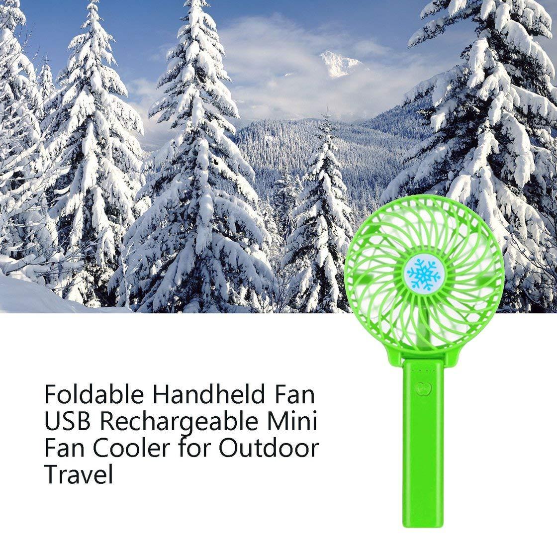 Jessicadaphne Ventilador de Mano Ventilador port/átil peque/ño con Pilas Ventilador Personal Recargable Plegable Ventilador USB Ajustable de 3 velocidades
