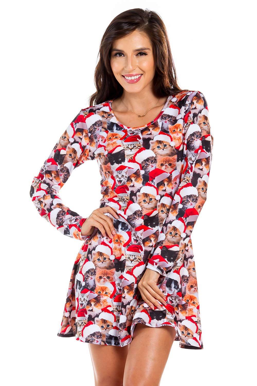 560462a11914 Women's Meowy Catmus Christmas Cat Dress: XXL