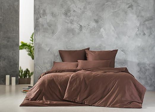 Sei Design® Mako-Satin Bettwäsche aus 100/% Baumwolle