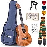 lotmusic Baritone Ukulele 30 Inch Ukelele Mahogany ukulele for Beginer with Gig Bag Strap String Capo Picks