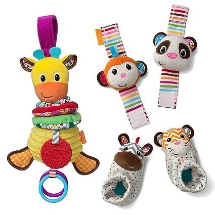 41015b8e644e Infantino ver Play Go juguete Bundle pie y muñeca sonajero, Musical jirafa