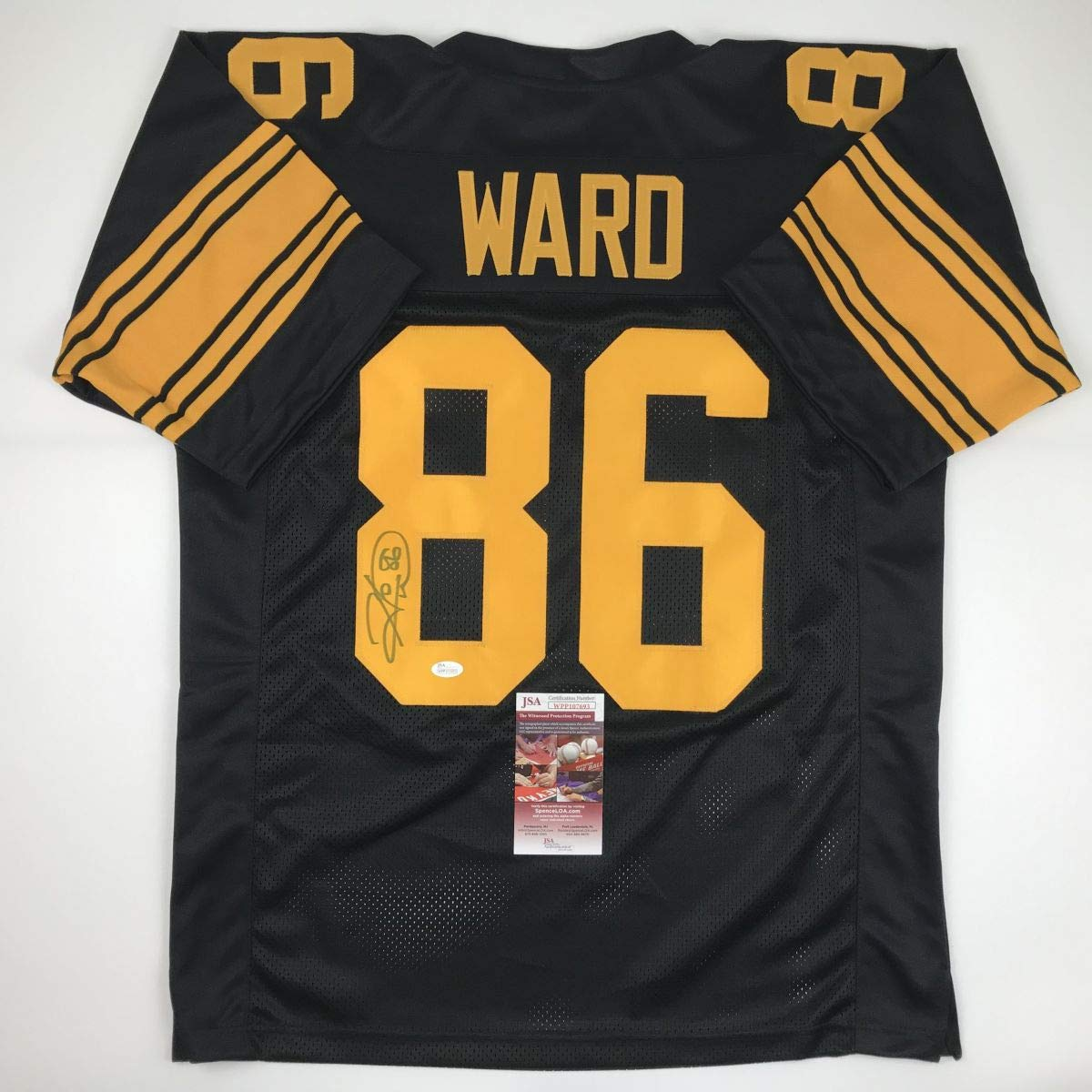 b1318c36f39 Autographed Signed Hines Ward Pittsburgh Color Rush Football Jersey JSA COA  at Amazon s Sports Collectibles Store