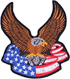 "ecusson thermocollant patch badge brode thermocollant ecusson thermocollant "" l aigle americain 9 x 8 cm """