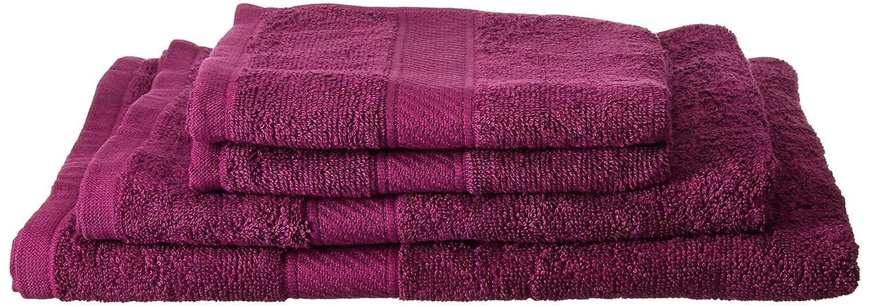 Trident 400 g/m², Juego de 4 toallas de algodón (baño y mano), Morado Oscuro: Amazon.es: Hogar