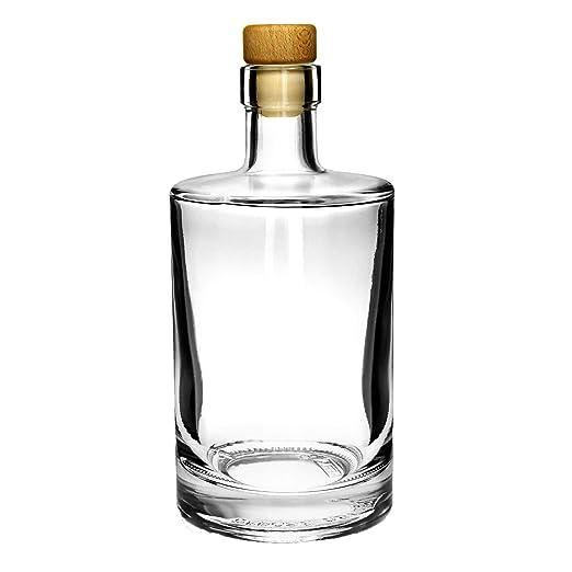 Galileo - Botella de vidrio con corcho, 500 ml, 4 unidades: Amazon ...