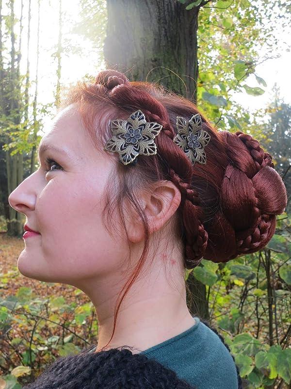 Leaves Bridesmaid Lace Clock Gears Bride Wedding Hair Accessories Steampunk Hair Piece Flower Girl Books