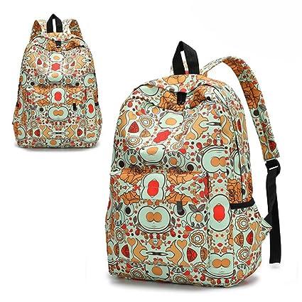 mochilas escolares niña, mochilas mujer casual, Mochila de viaje de viaje ligero bolso bandolera
