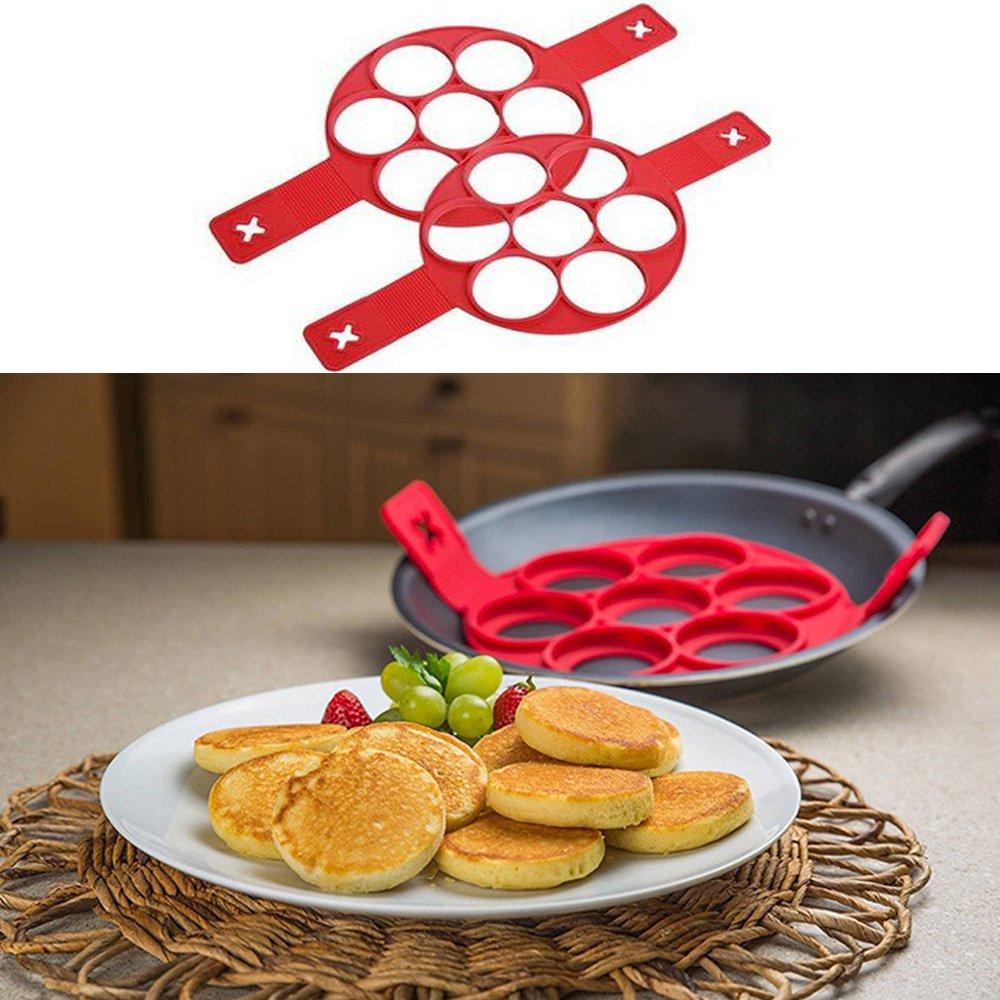 Non-stick Silicone Round Fired Egg Mold Pancake Mold Pancake Maker,Fantastic Pancake Maker