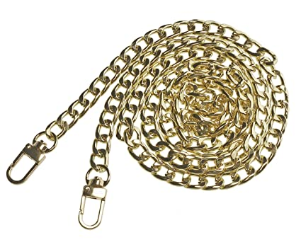 3909bc720d Penta Angel Iron Flat Purse Chain Strap Replacement 47   Gold Plated Metal Handbag  Chains