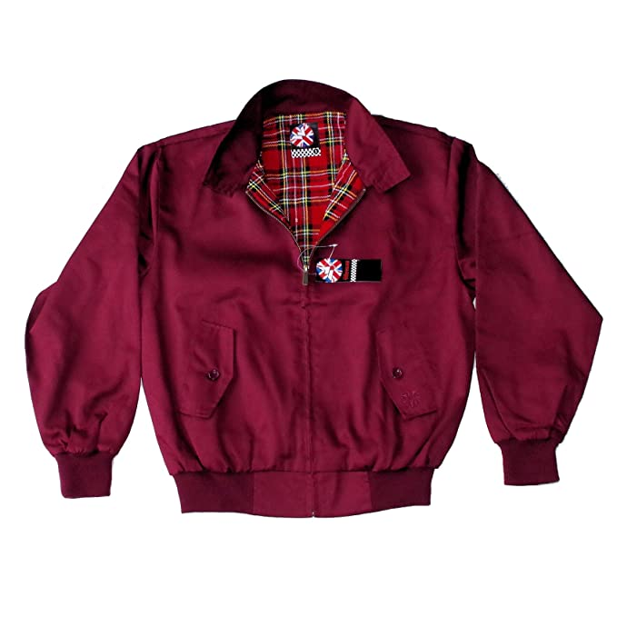 Warrior, chaqueta Harrington original de color bermellón: Amazon.es: Ropa y accesorios