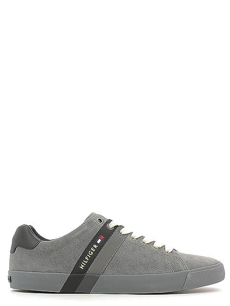 Tommy Hilfiger - Zapatillas de Lona para hombre gris Steel Grey gris Size: 40: Amazon.es: Zapatos y complementos