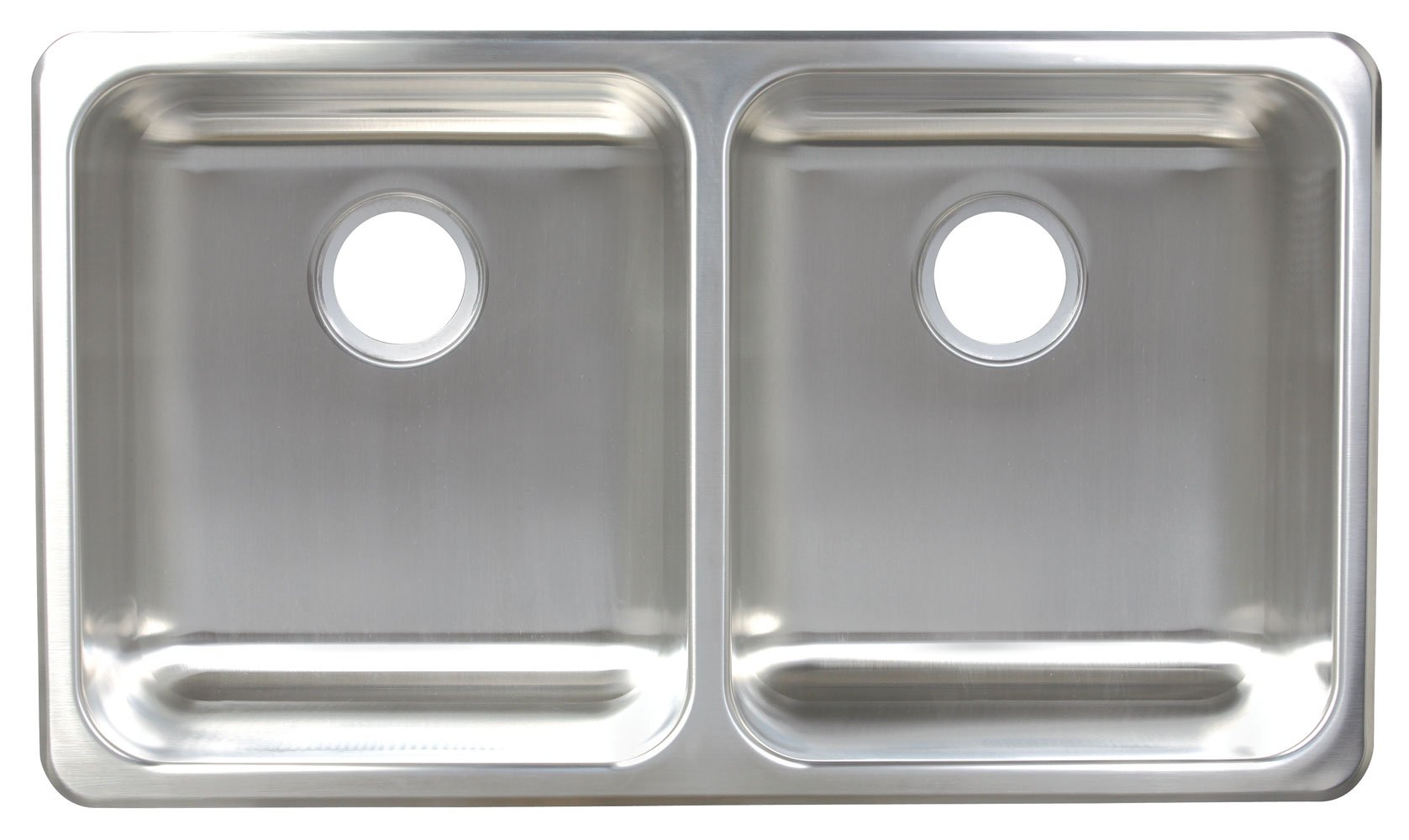 Franke A1933/9 Double-Bowl Dual Mount Kitchen Sink, Stainless Steel