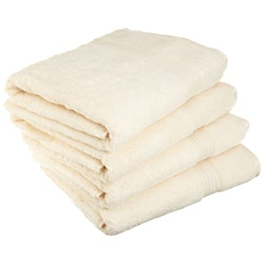 Superior Luxurious Soft Hotel & Spa Quality Bath Towel Set of 4, Made of 100% Premium Long-Staple Combed Cotton - Ivory, 30  x 54  each