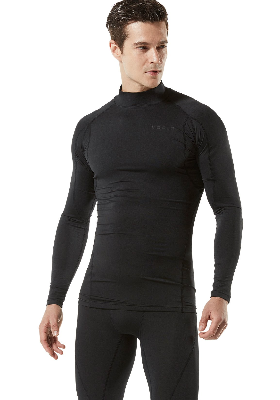 Tesla Men's Mock Long Sleeved T Shirt Cool Dry Compression Baselayer MUT12/T11/T01